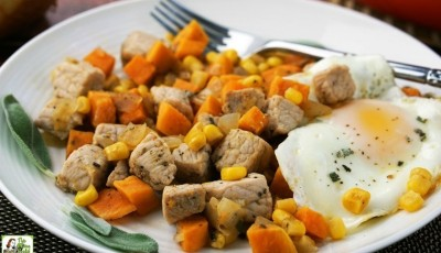 How to make a Sweet Potato Pork Hash recipe for brunch or brinner