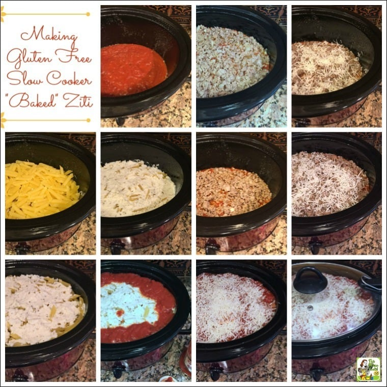 "Making Gluten Free Slow Cooker ""Baked"" Ziti is easy! Click to get this gluten free slow cooker recipe."