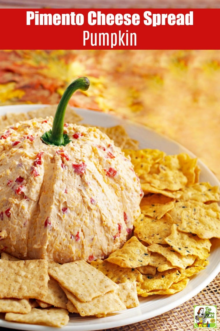 Serve this Pimento Cheese Spread Recipe and turn it into a pimento cheese ball pumpkin for entertaining. Your guests will love this pimento cheese ball recipe with cream cheese. Make it for game day, Halloween, or Thanksgiving parties. #recipes #easy #recipeoftheday #glutenfree #easyrecipe #easyrecipes #glutenfreerecipes #halloween #thanksgiving #partyfood #appetizers #appetizerseasy