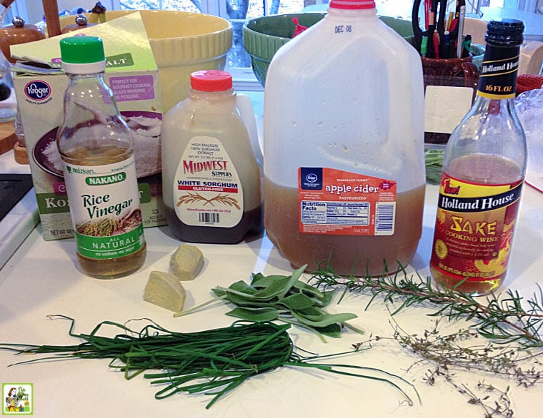 Ingredients for how to make a smoked turkey breast brine.