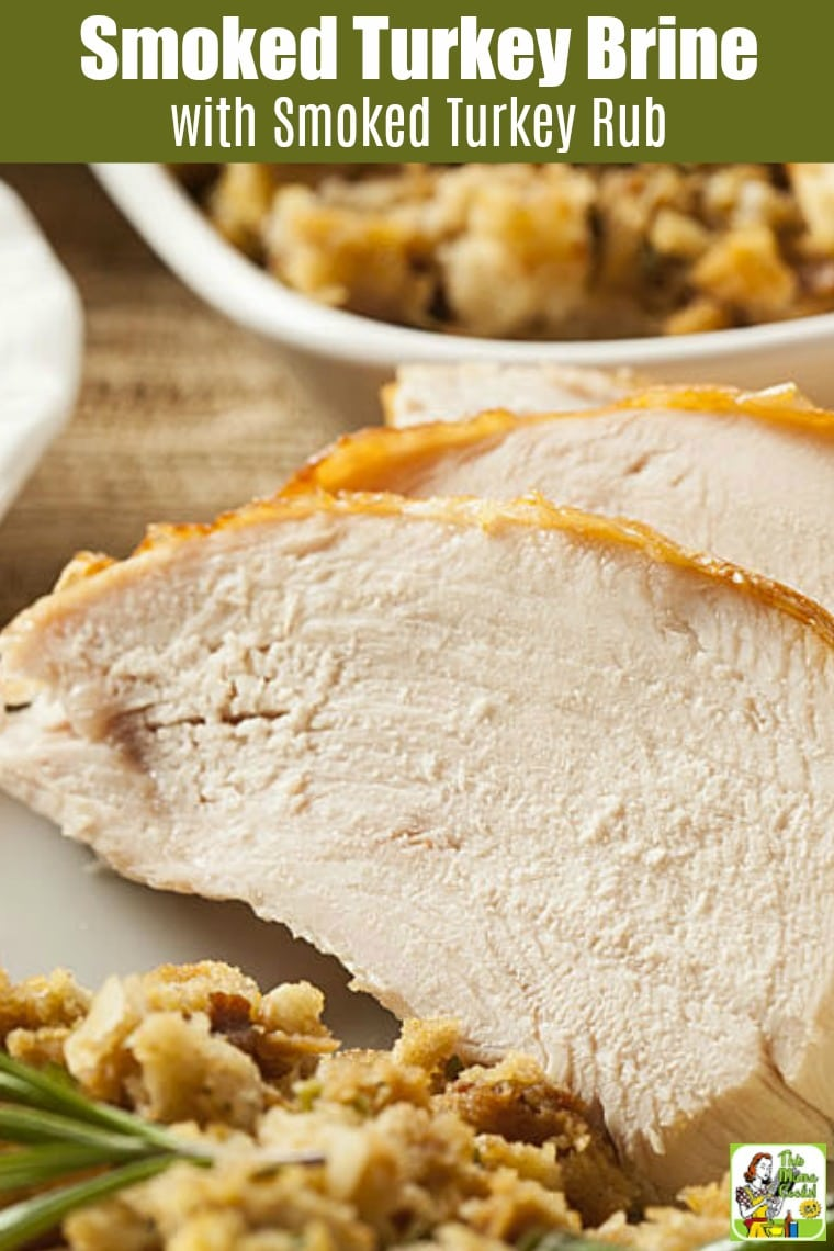 This is the best Smoked Turkey Brine with Smoked Turkey Rub you'll find. It comes with tips on how to brine and smoke a turkey. This simple brine for turkey is perfect for electric smokers and ceramic grills. #grill #grilling #grillrecipes #grillingrecipes #recipes #glutenfree #glutenfreerecipes #thanksgiving #thanksgivingrecipes #christmas #christmasrecipes #keto #ketorecipes #ketodiet #paleo #paleodiet #lowcarb #lowcarbrecipes #lowcarbdiet #turkey #easter #easterrecipes