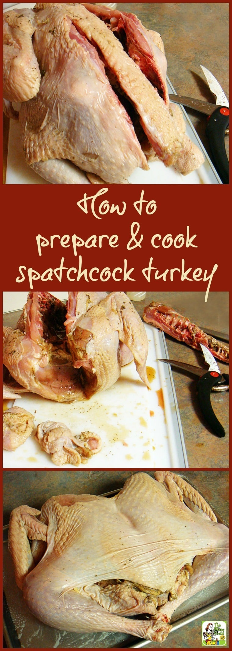 If you want to shorten turkey cooking time in the oven or in the smoker grill, spatchcock your turkey! Click to learn how to prepare and cook a spatchcock turkey for Thanksgiving, Christmas or BBQ cookouts.