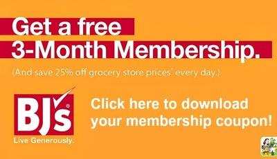 Get big savings with a FREE 90-Day BJ's Wholesale Club Membership