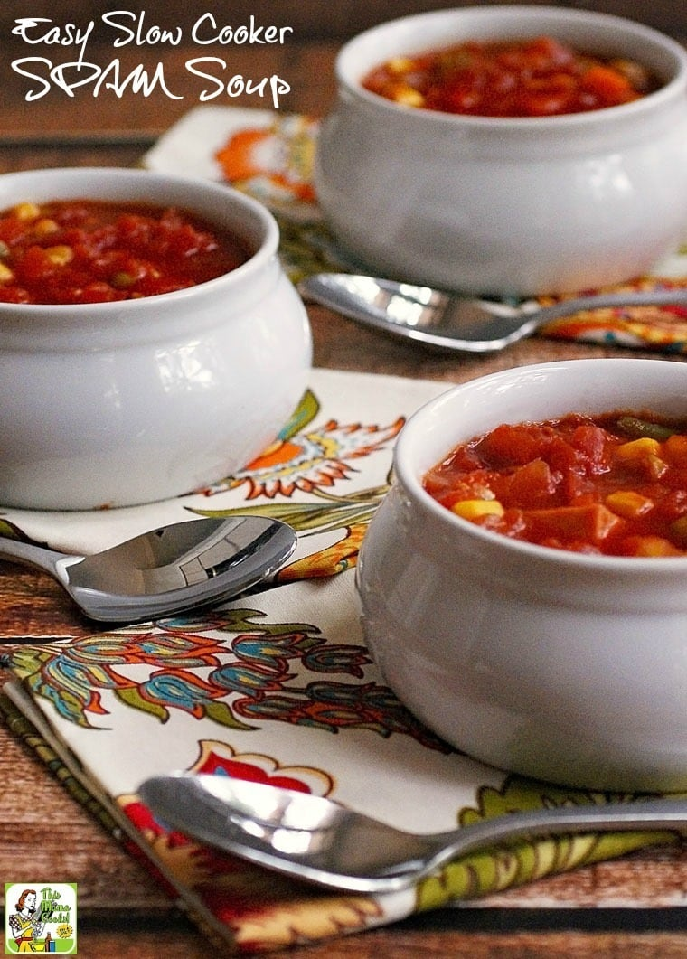 Looking for an easy to make Crock-Pot soup recipe? Learn how to open a few cans to make Easy Slow Cooker SPAM Soup. Click to get this delicous and healthy soup.