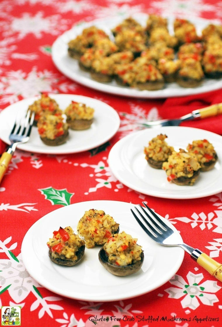 Watch these Gluten Free Crab Stuffed Mushrooms Appetizers disappear at your holiday party! Click to get the gluten free stuffed mushroom appetizer recipe.