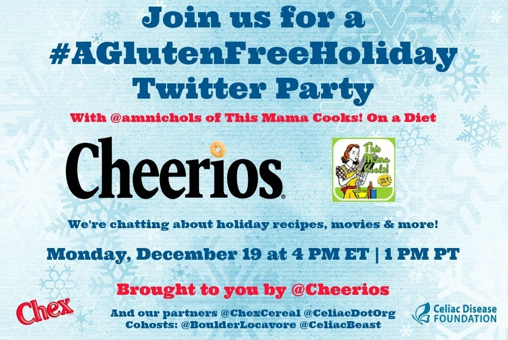 Join us at a Gluten Free Holiday Twitter Party!