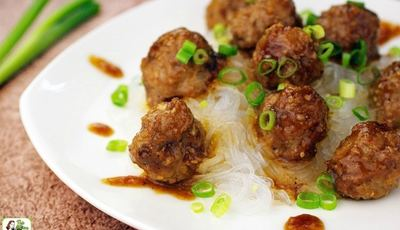 Gluten Free Asian Meatballs with Hoisin Sauce