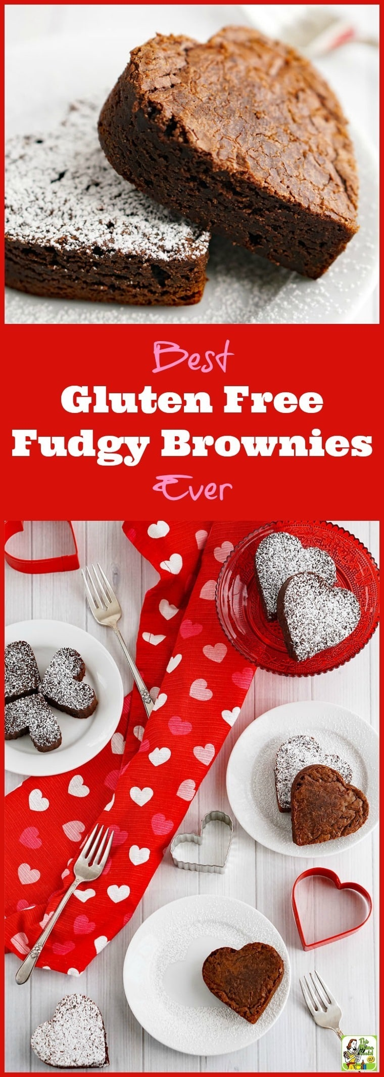 Looking for an easy gluten free fudgy brownie recipe? Try the Best Gluten Free Fudgy Brownies Ever! Perfect for Valentine\'s Day! #valentinesday #brownies #browniesrecipe #chocolate #glutenfreerecipes #glutenfreebaking #desserts #dessertrecipes #dessertideas #recipe #easy #recipeoftheday #healthyrecipes #glutenfree #easyrecipes