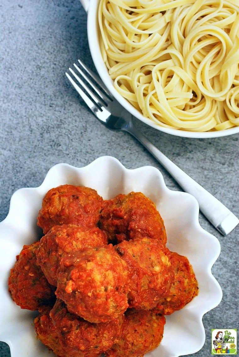 The Best Gluten Free Slow Cooker Turkey Meatballs Ever!