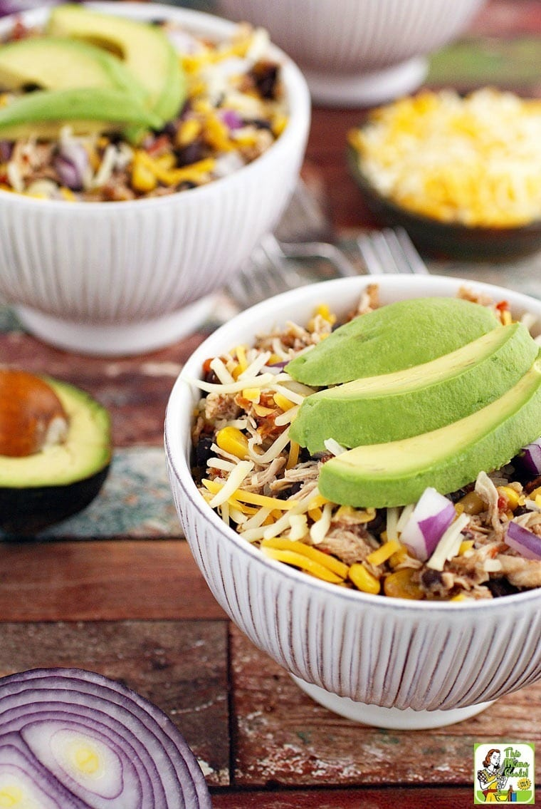 Love the combination of rice, shredded chicken and black beans? Try this Crock-Pot Mexican Shredded Chicken with Black Beans & Corn recipe.