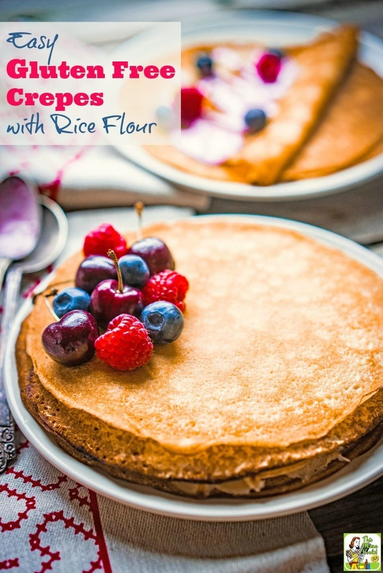 Gluten free? You can enjoy this Easy Gluten Free Crepes with Rice Flour recipe!