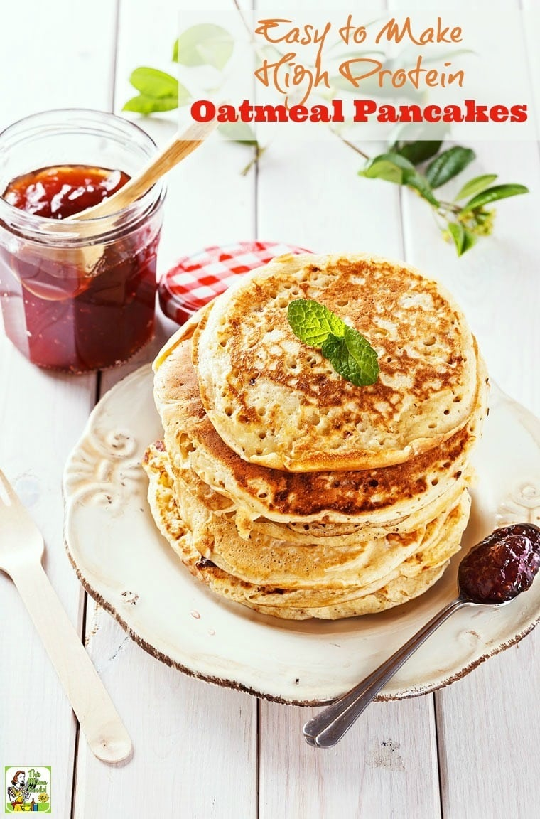 Looking for high protein pancake recipes? Then click to get this Easy to Make High Protein Oatmeal Pancakes recipe.