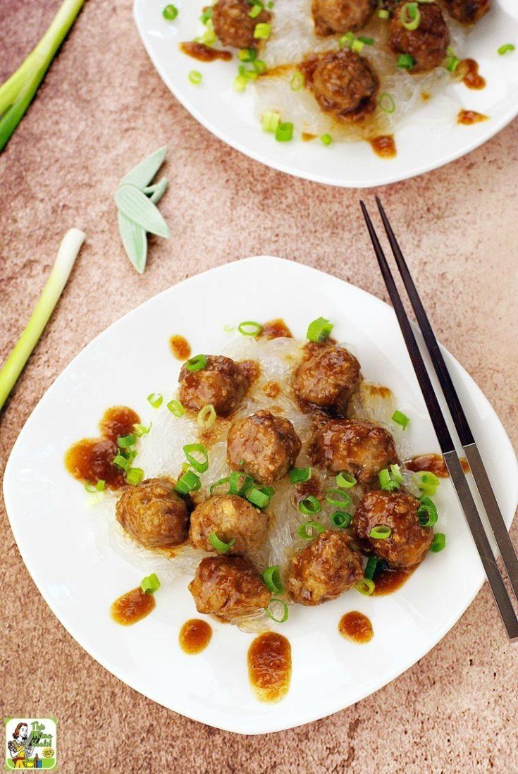 Gluten Free Asian Meatballs with Hoisin Sauce Recipe