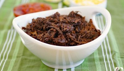 This Slow Cooker Goat recipe makes amazing shredded beef & chicken, too!