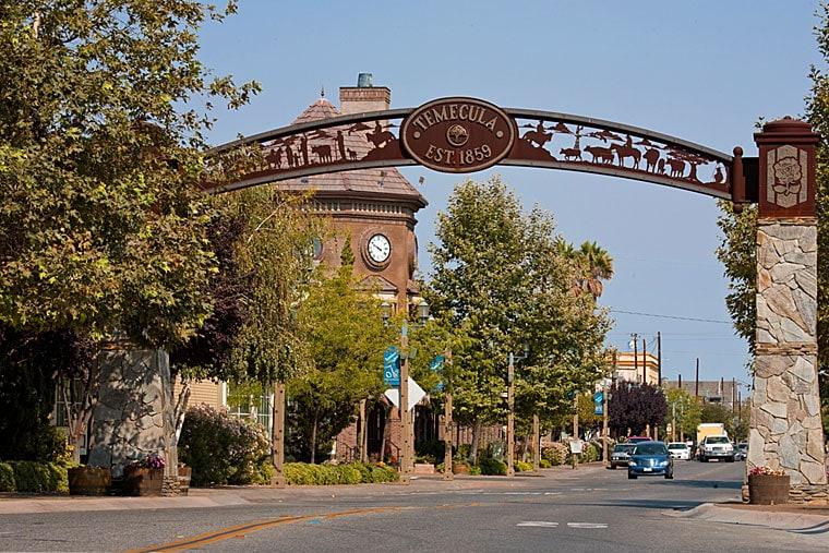Gateway to Temecula, California.