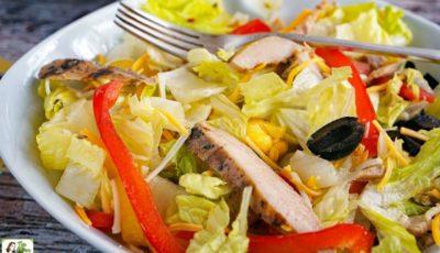 Easy Chicken Fajita Salad Recipe