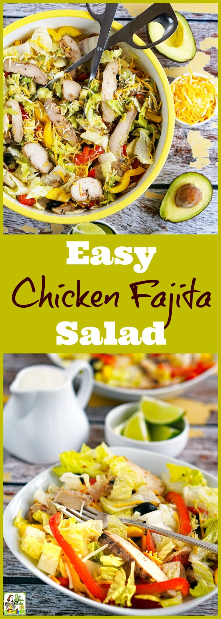 How to Make an Easy Chicken Fajita Salad. This recipe for chicken fajita salad can be made into fajita wraps, too. Click to get this healthy and easy salad recipe. It\'s naturally gluten free.