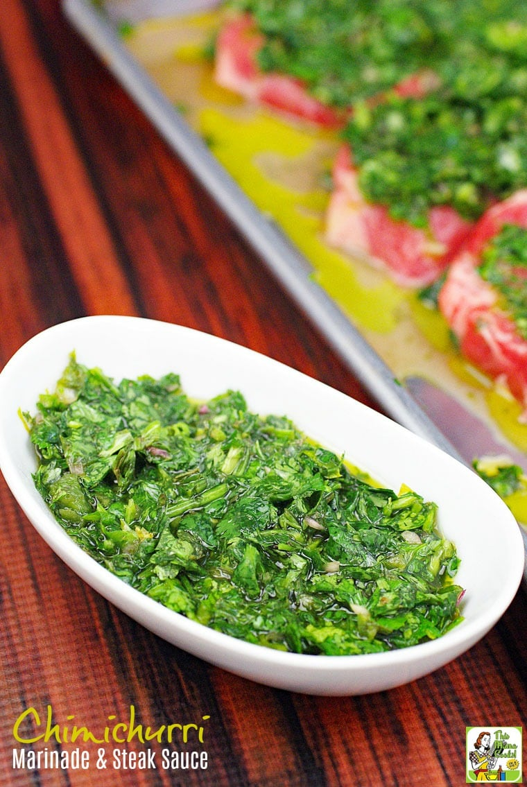 Making the Best Chimichurri Recipe is easier than you think. Click to get this Chimichurri Marinade & Steak Sauce Recipe.