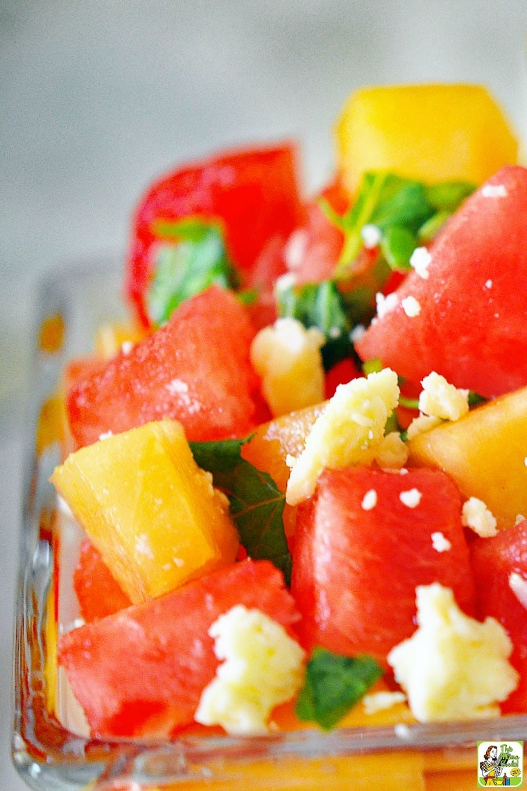 Watermelon and Cantaloupe Salad recipe