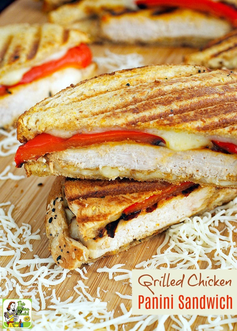 Looking for new grilled chicken meal ideas for easy weeknight dinners? Click to get this Grilled Chicken Panini Sandwich recipe.