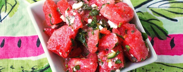 Watermelon Salad with Mint & Feta Recipe