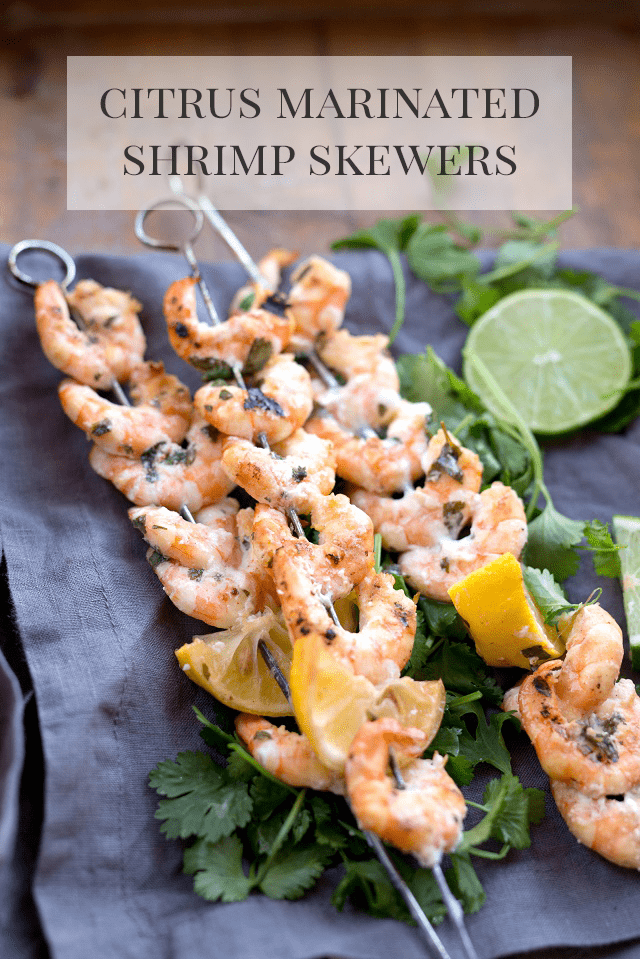 Citrus Marinated Shrimp Skewers Recipe