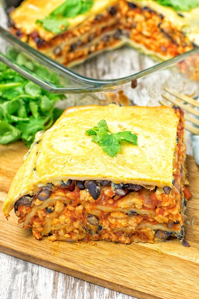 Easy Vegan Taco Lasagna