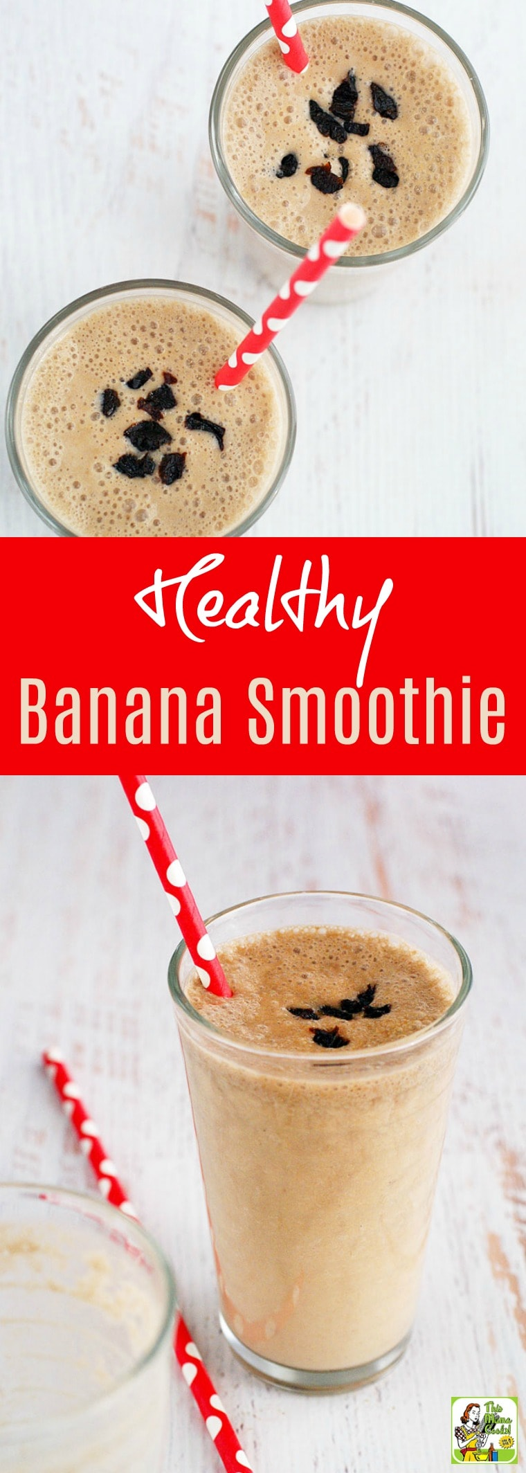 Jump start your day with a Healthy Banana Smoothie. This banana smoothie recipe makes a terrific on the go breakfast meal. It\'s dairy free, nut free, gluten free, and made with sunflower butter, coconut milk, and light plum juice. #banana #dairyfree #breakfast #snack #vegan #recipe #easy #recipeoftheday #healthyrecipes #glutenfree #easyrecipes #breakfast #snacks #lowcaloriesnacks #smoothies #smoothiesrecipes #healthydrinks #healthydrinksrecipe