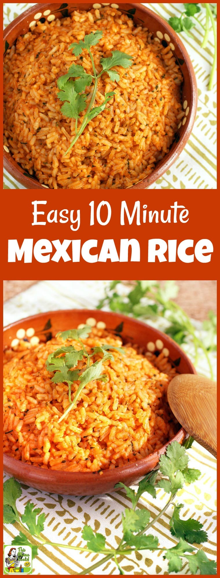 It\'s not taco night unless you have Mexican restaurant style rice. It\'s so simple to prepare if you have this Easy 10 Minute Mexican Rice recipe! Can be made gluten free and vegetarian, too! #recipes #recipeoftheday #healthyrecipes #easyrecipe #easyrecipe #mexicanfoodrecipes #ricerecipes #vegetarian #copycatrecipes #mexicanrice #mexicanricerecipes #taconight #tacotuesdayrecipes #taconightrecipes