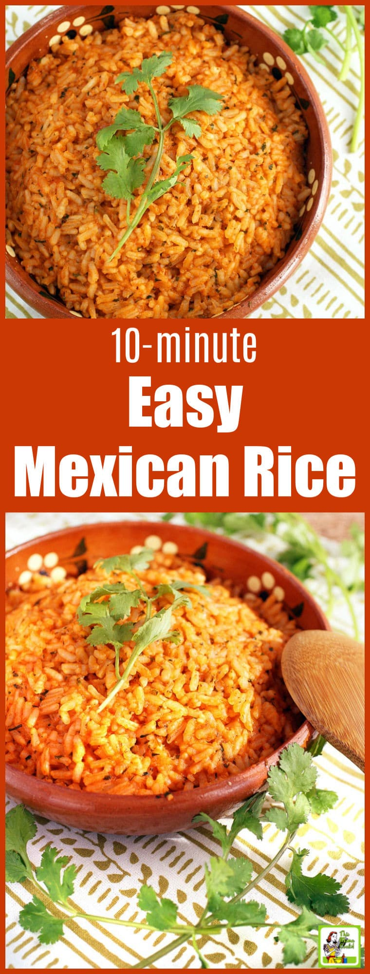 Easy restaurant-style Mexican rice takes only 10 minutes. Perfect for Taco Tuesday or to serve with your favorite burritos or carne asada. Can be made vegan or vegetarian. Naturally gluten free. #rice #mexicanfoodrecipes #mexican #mexicanfood #mexicanrecipes #tacotuesday #copycatrecipes #copycat #vegetarian