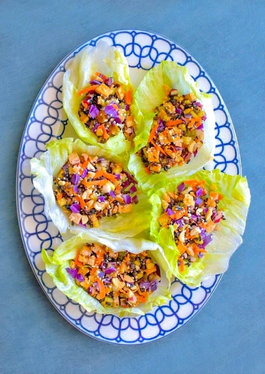 Best Ever Thai Tofu Lettuce Wraps