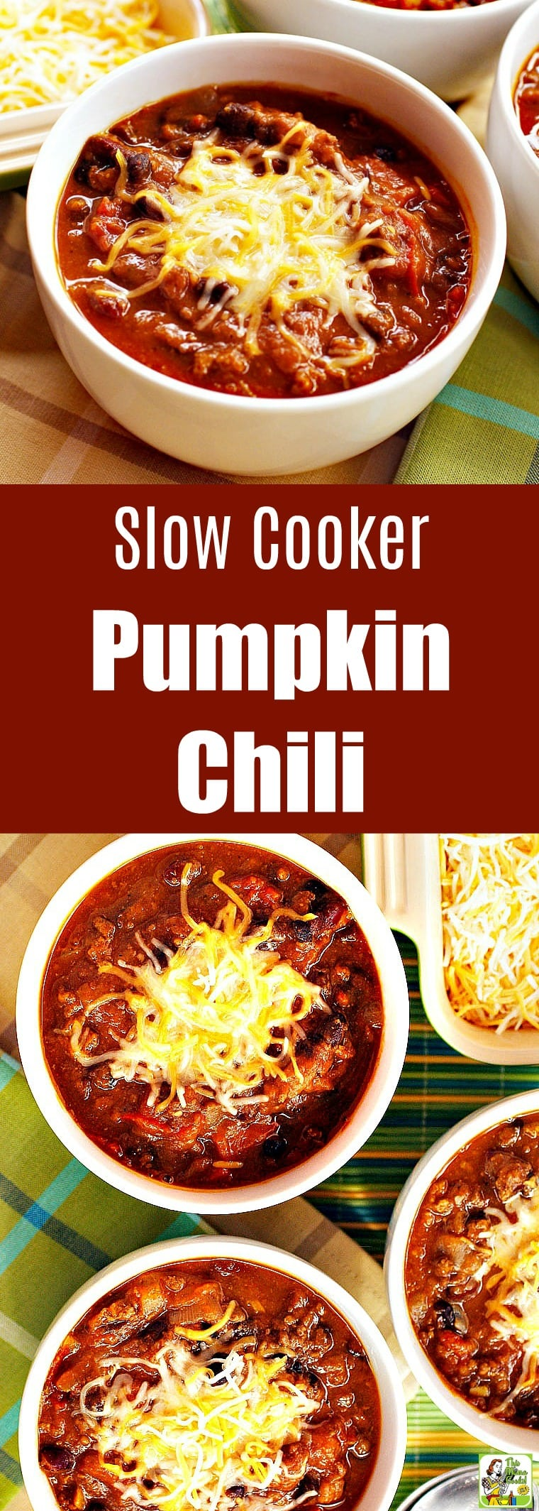 Slow Cooker Pumpkin Chili is an all around crowd-pleaser. This spicy turkey pumpkin chili is made with lean ground turkey, canned beans, and vegetables. #recipes #easy #recipeoftheday #glutenfree #easyrecipe #easyrecipes #glutenfreerecipes #dinner #easydinner #dinnerrecipes #dinnerideas #chili #beans #pumpkin #pumpkinrecipe #chili #turkey #slowcooker #slowcookerrecipes #crockpot #crockpotrecipes