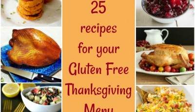 Need some gluten free Thanksgiving dishes to serve this year? Here are 25 dinner recipes for your Gluten Free Thanksgiving Menu.