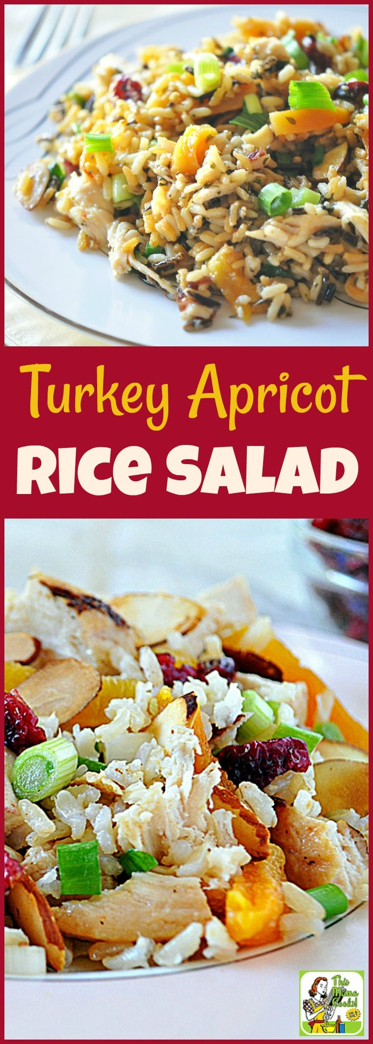 Cooking Thanksgiving leftovers? Then you\'ll love easy Thanksgiving leftover recipes like this Turkey Apricot Rice Salad! It\'s a gluten free salad recipe that\'s a handy way to use Thanksgiving leftovers. It\'s also diabetic friendly. #recipe #easy #recipeoftheday #healthyrecipes #glutenfree #easyrecipes #salad #turkey #thanksgiving #apricot #rice #diabeticfriendly #healthy #leftovers #thanksgivingleftovers