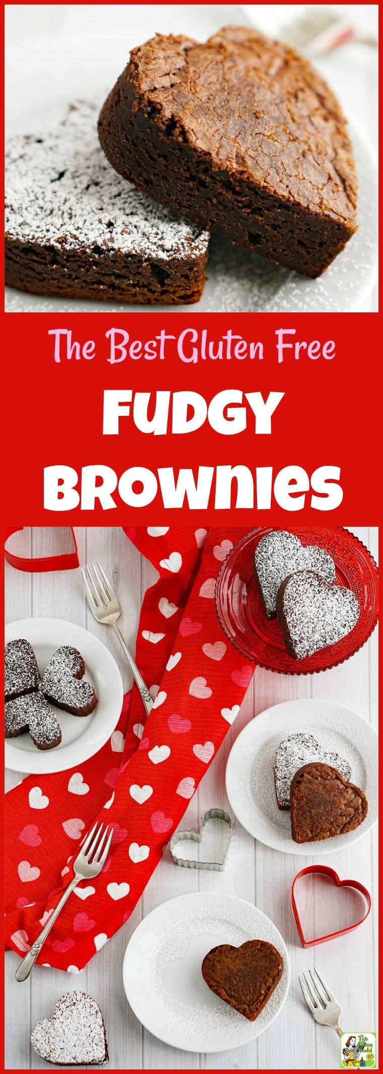 Looking for a gluten free fudgy brownie recipe? Try the Best Gluten Free Fudgy Brownies Ever! Click to get this easy gluten free brownie recipe. Perfect for Valentine\'s Day! #valentinesday #brownies #browniesrecipe #chocolate #glutenfreerecipes #glutenfreebaking #desserts #dessertrecipes #dessertideas #recipe #easy #recipeoftheday #healthyrecipes #glutenfree #easyrecipes