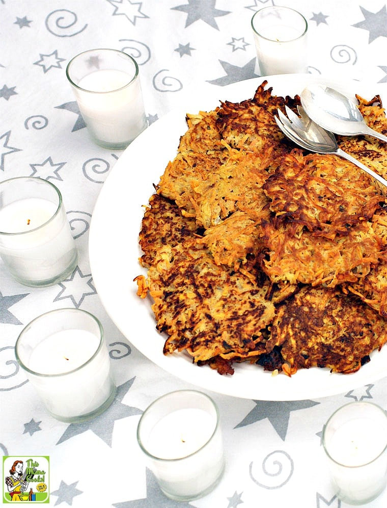 Sweet Potato Pancakes can be served for hanukkah as Sweet Potato Latkes.