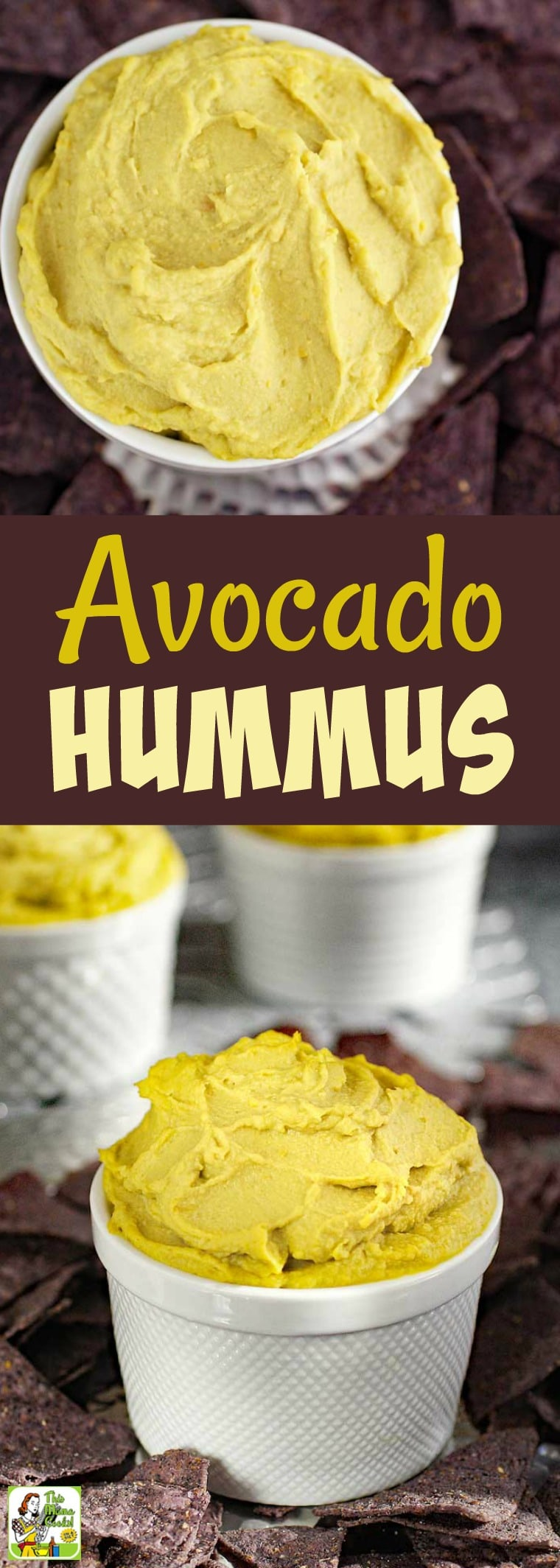 Do you love making homemade hummus recipes for parties? Your guests will love Avocado Hummus. This recipe is for spicy hummus since it uses hot sauce. This party appetizer is gluten free, dairy free, vegan, and filled with healthy fats and protein. #dip #avocado #hummus #glutenfree #dairyfree #vegan #vegetarian #healthy #appetizers