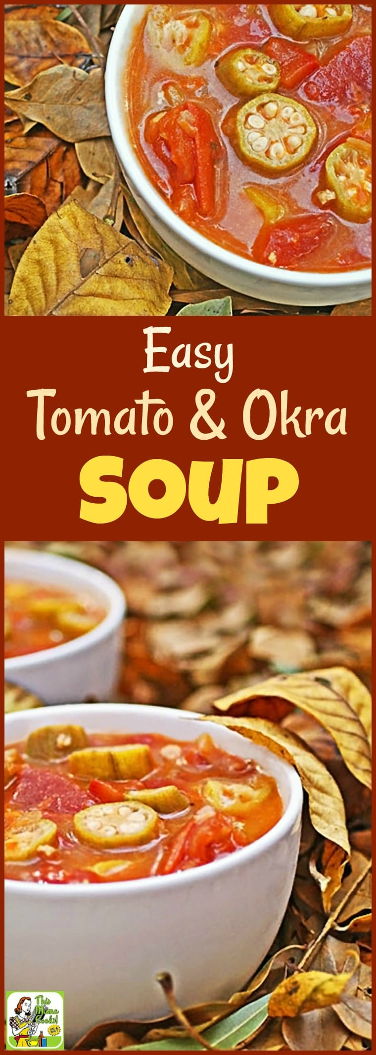 Have you ever tried okra soup? Well, if you\'re looking for an easy to make, healthy soup recipe, you\'ll love this Easy Tomato & Okra Soup recipe. So delicious, even your kids will ask for seconds! Make a double batch and freeze half for another night\'s soup and salad lunch or dinner. #soup #okra #tomatoes #healthysoup #glutenfree #soupandsalad #recipe #easy #recipeoftheday #healthyrecipes #easyrecipes