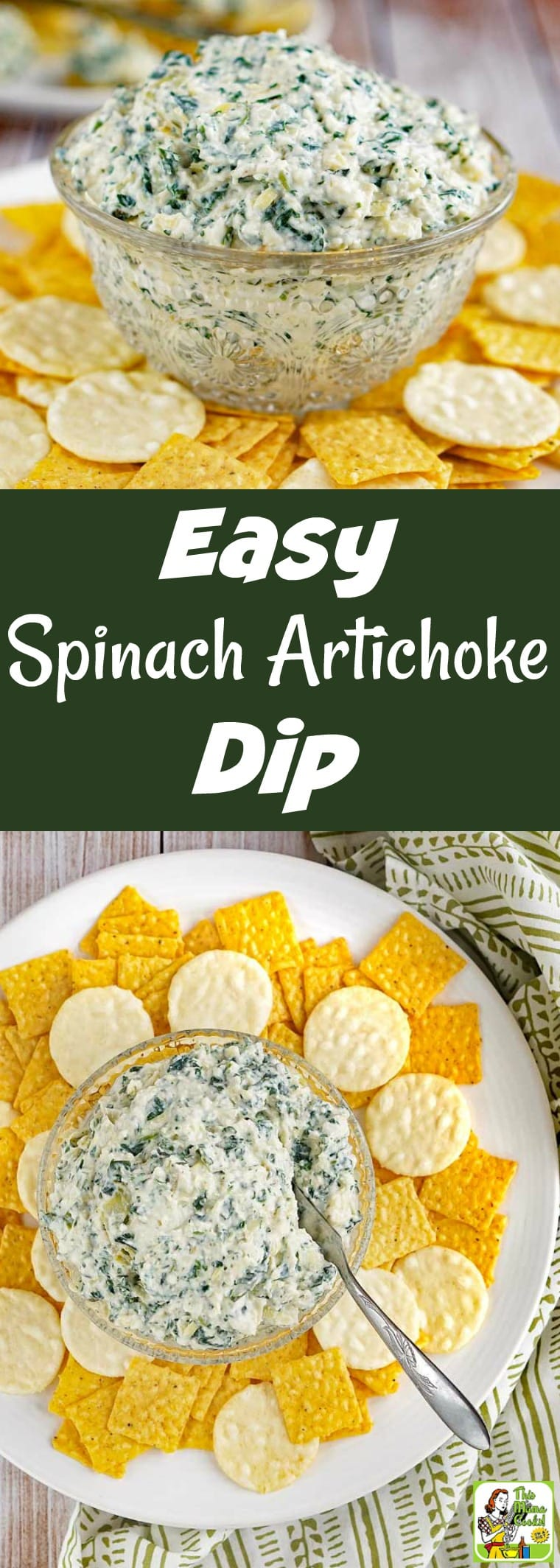How to Make the Easiest Spinach Artichoke Dip Ever! You'll love this spinach artichoke dip recipe! It\'s made with Plain Silk Almondmilk Yogurt Alternative and can be made completely vegan with a few simple changes. Your guests will love this delicious party appetizer and it can be made in 20 minutes! #yogurt #spinach #appetizer #dip #vegan #glutenfree #dairyfree