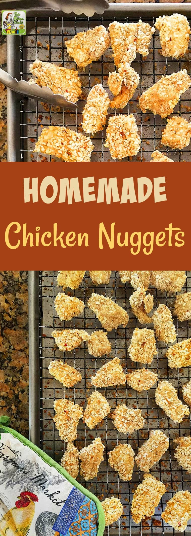 Homemade Chicken Nuggets make easy-to-serve appetizers. This chicken nuggets recipe is gluten-free and kids will love them served with dipping sauce! Make this chicken nugget recipe as a kids\' meal or party appetizer. #recipe #glutenfree #chicken #chickennuggets #kidfriendly #kidfood #appetizer #kidsmeals #appetizers