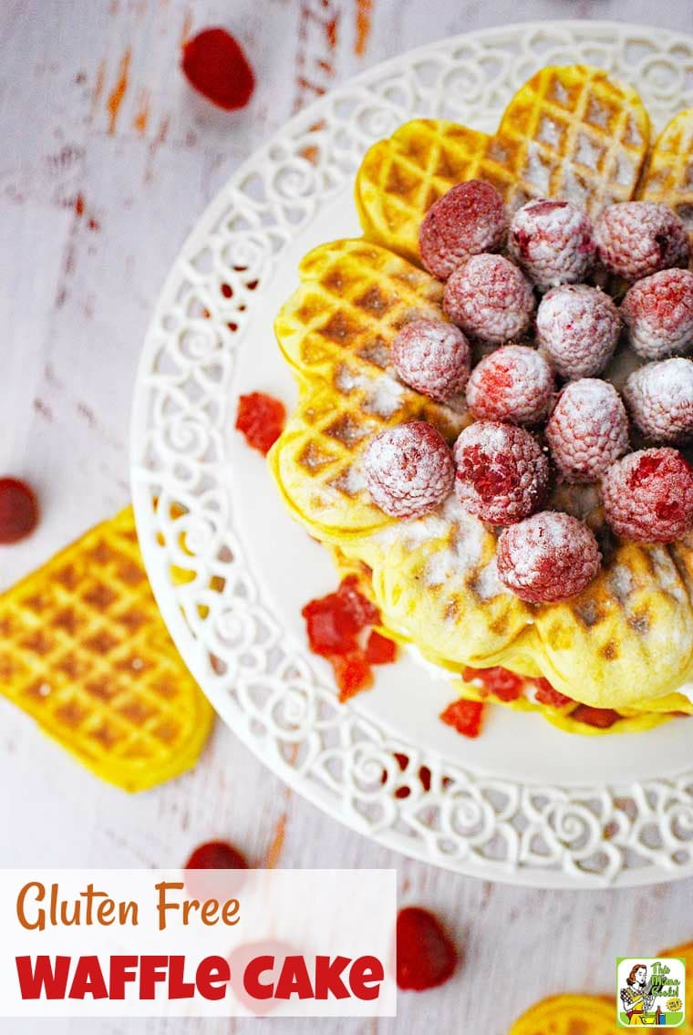 Gluten Free Waffle Cake is easy to make for a special brunch or breakfast using your best waffle iron.