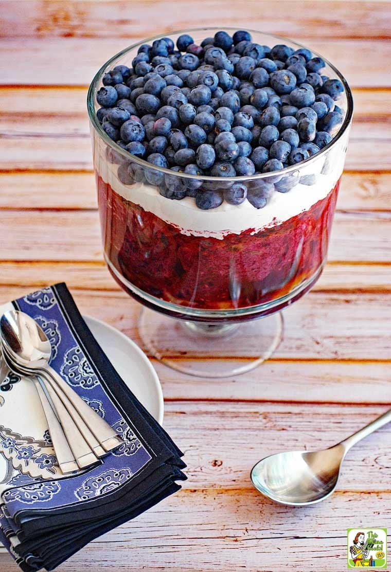 Make a gluten free dessert recipe: Red White and Blue Trifle