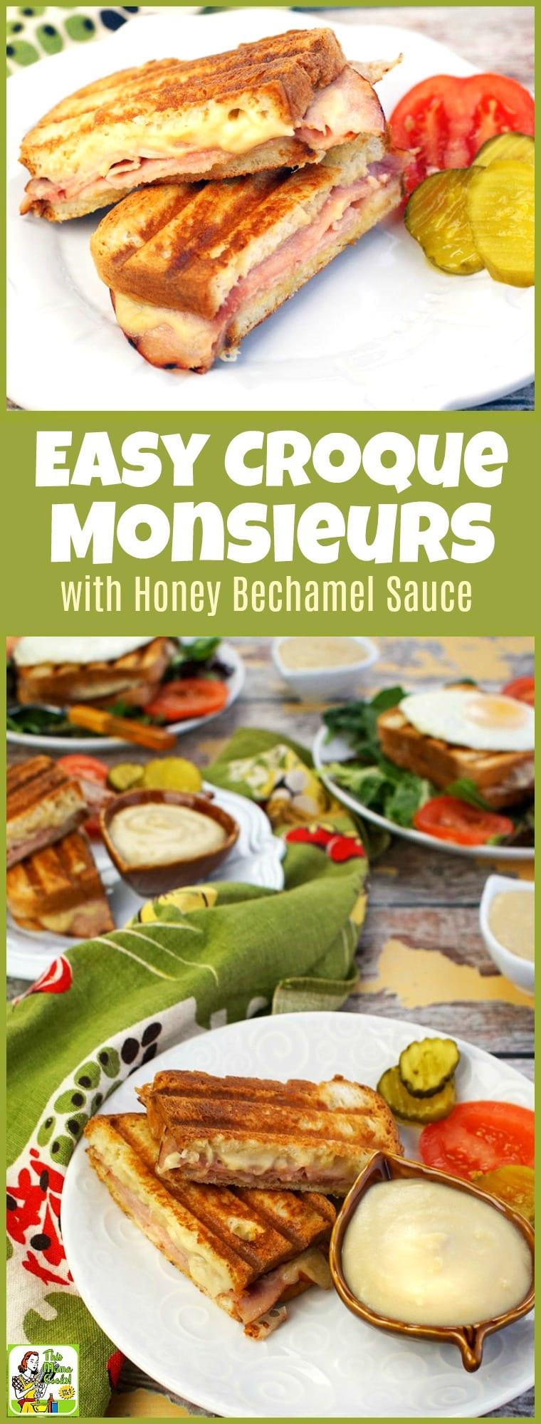 Just because you're gluten free doesn't mean you can't enjoy an Easy Croque Monsieur with Honey Bechamel Sauce! Just use gluten free bread, ham and the included honey bechamel sauce recipe. Add a fried egg on top and turn it into a croque madame recipe that\'s perfect to entertain friends and family for brunch. #recipe #easy #recipeoftheday #healthyrecipes #glutenfree #easyrecipes #breakfast #brunch #snack #snacks #panini #grilledcheese #sandwiches #ham #cheese #honey #bechamel