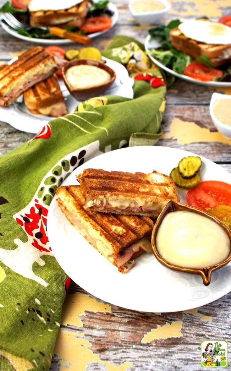 Easy Croque Monsieurs with Honey Bechamel Sauce Recipe