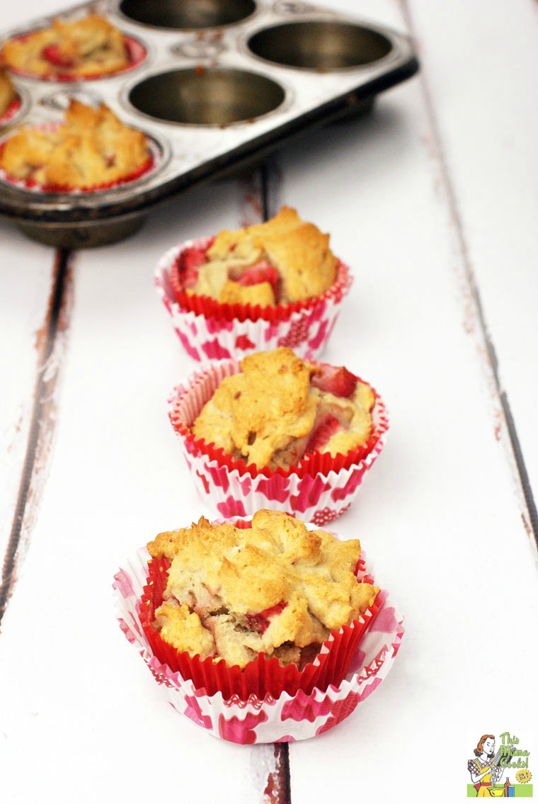 Love muffins but are gluten free? This easy to make Healthy Strawberry Muffins recipe can be made with fresh or frozen strawberries and your favorite all-purpose gluten free flour.