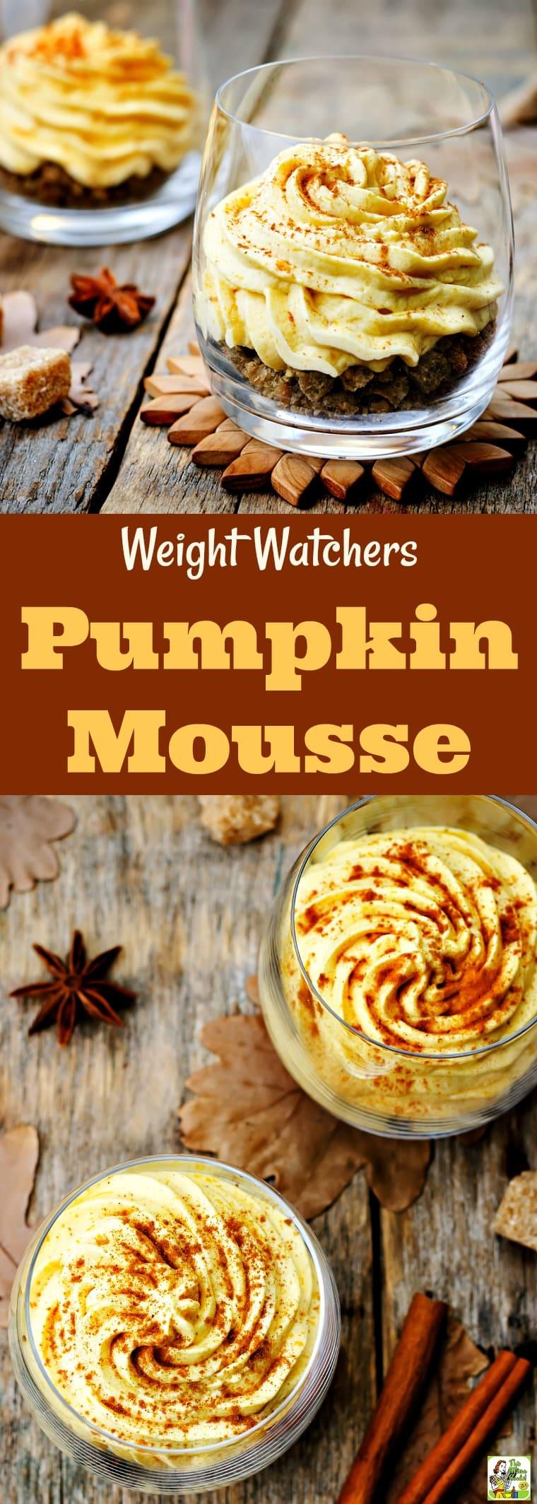 Weight Watchers Pumpkin Mousse
