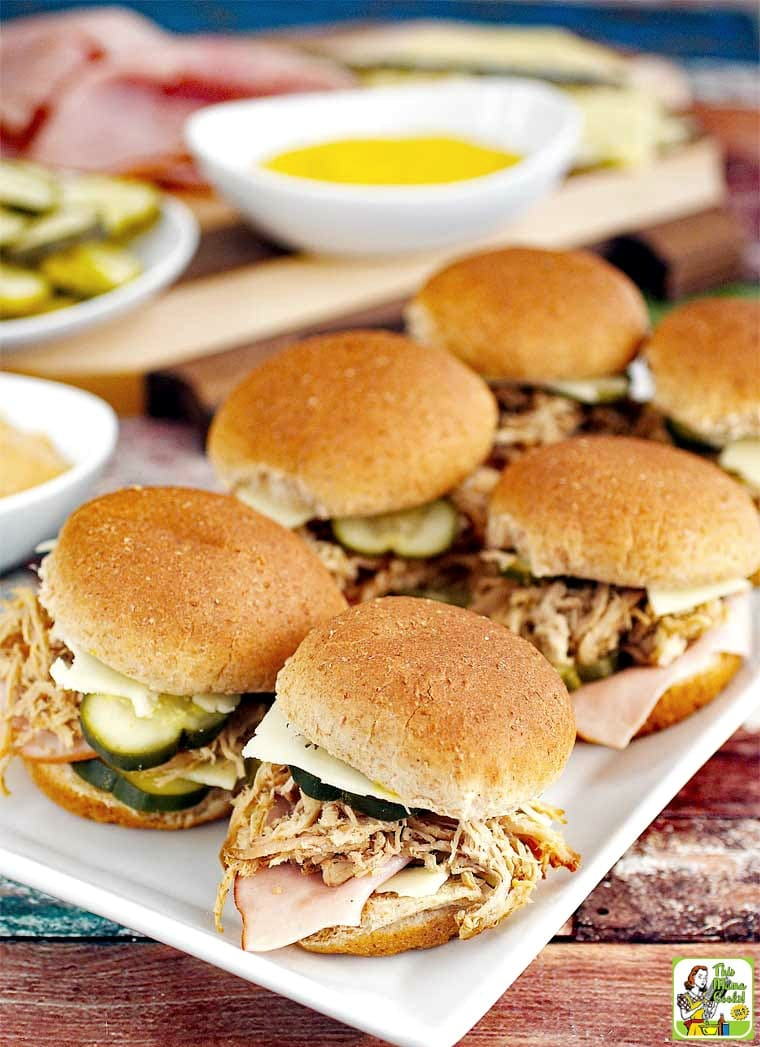 Learn how to make mini Cuban sandwiches for the game