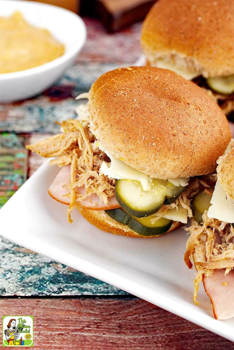 Get this Cuban Sliders recipe. Cuban pulled pork sliders are easy to put together.