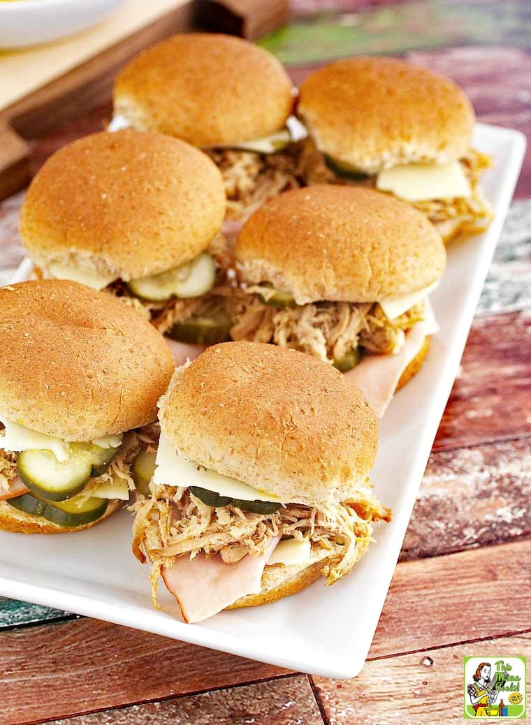 Cuban Sliders are a easily made party appetizer.