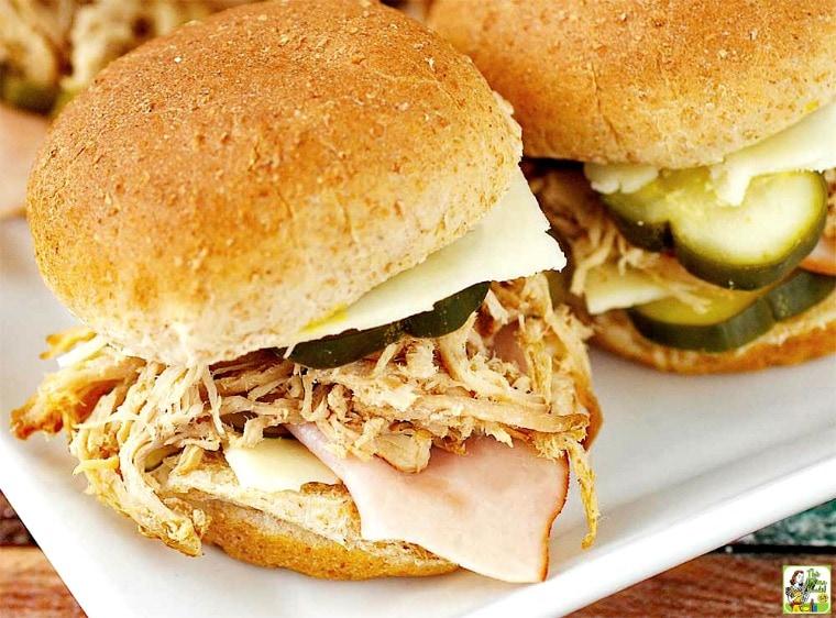 Cuban Sliders - you'll love these mini Cuban Sandwiches
